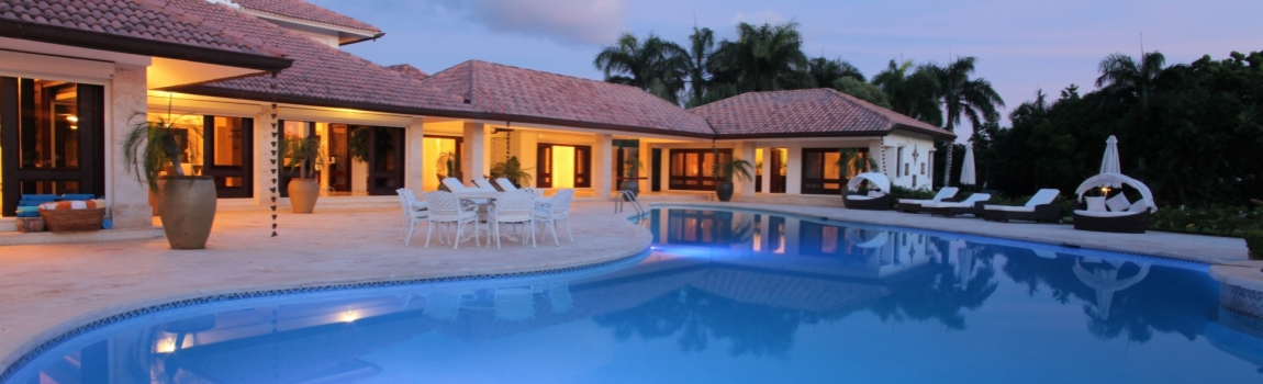 Exclusive villa rental Caribbean golf property Luxury villa